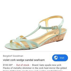 New Kate Spade Violet Wedge Wedding Shoes